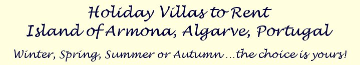 Algarve Portugal Armona island holiday accommodation logo